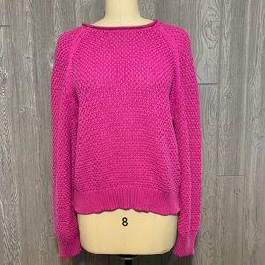 Lauren Ralph Lauren Pink Cotton Knit Sweater XL